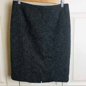 The Limited Dark Gray/Black Tweed Pencil Skirt